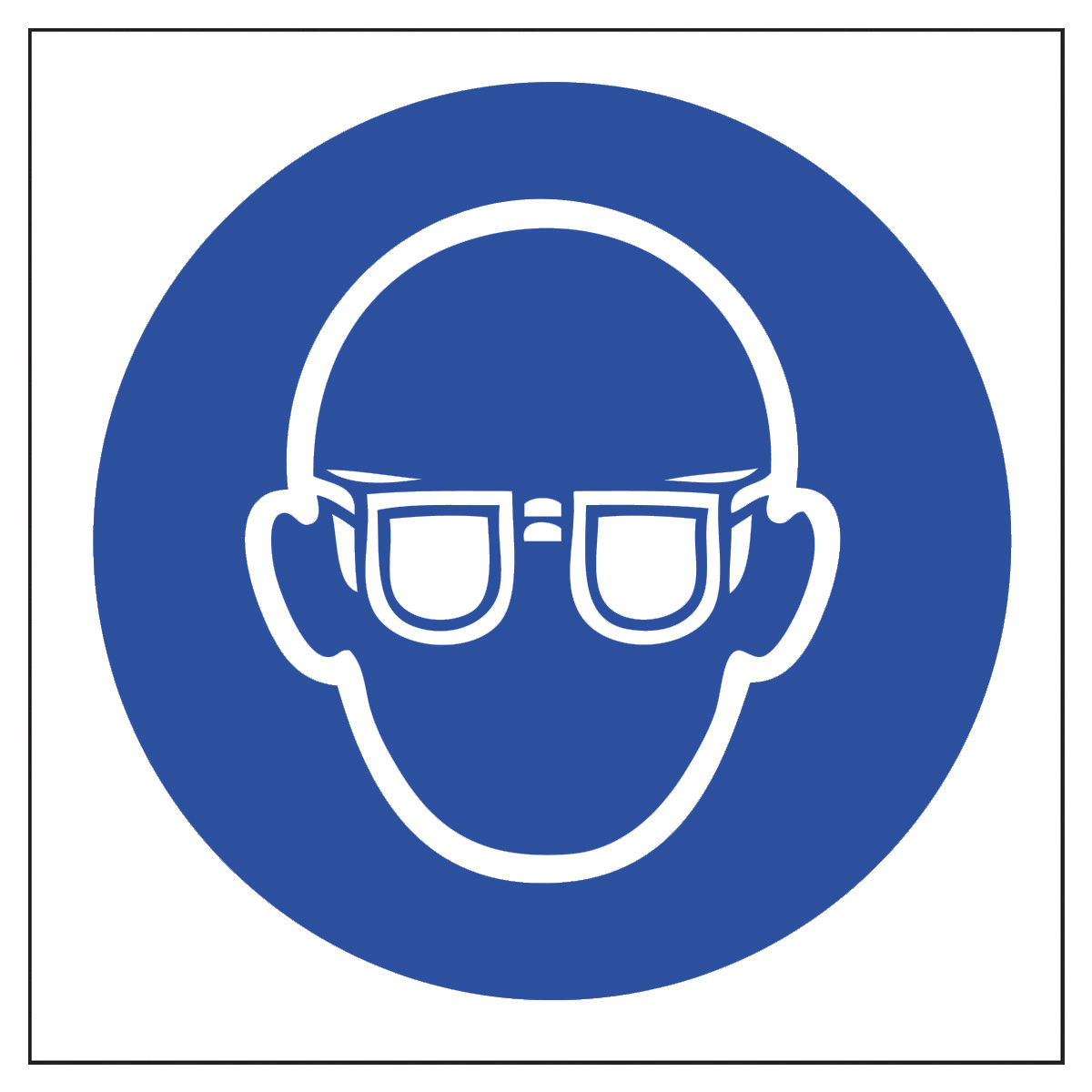 Eye Protection Symbol Safety Sign Mandatory Sign From Bigdug Uk