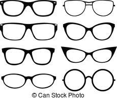 eyeglasses Clip Artby laschi19/6,481; Set of eyeglasses isolated over white background