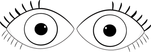 Eyes clipart black and white  - Eyes Clipart Black And White