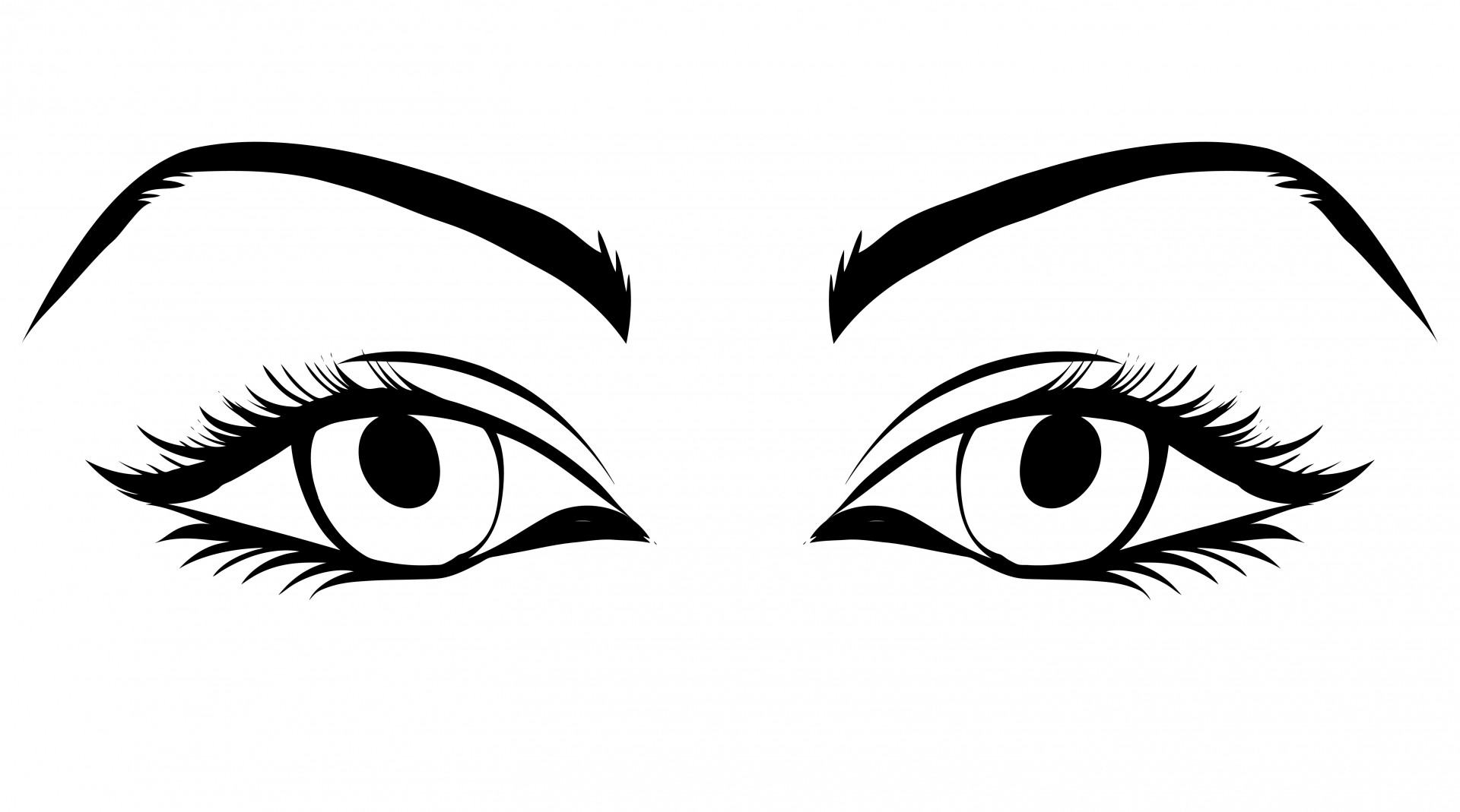 Eyes Of Woman Clipart