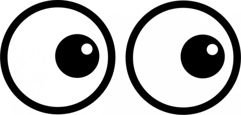 eyes on speaker clipart eyes on speaker clipart look clip art clipartsco 600 X 288