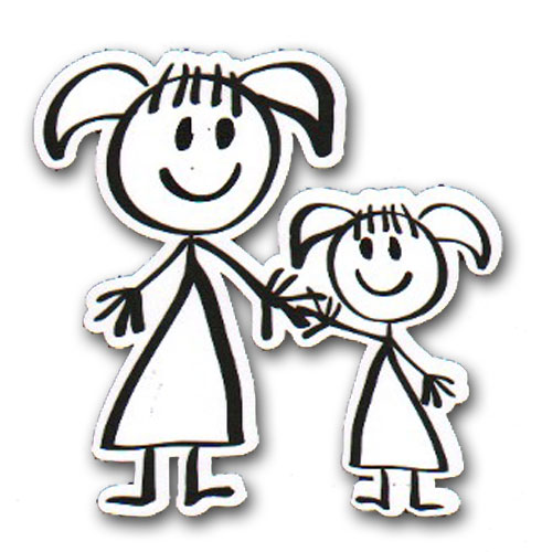 Ez Laser Designs Big Sister Little Sister Stick Figure Scrappin