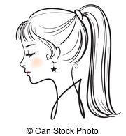 . ClipartLook.com beautiful woman face vector illustration