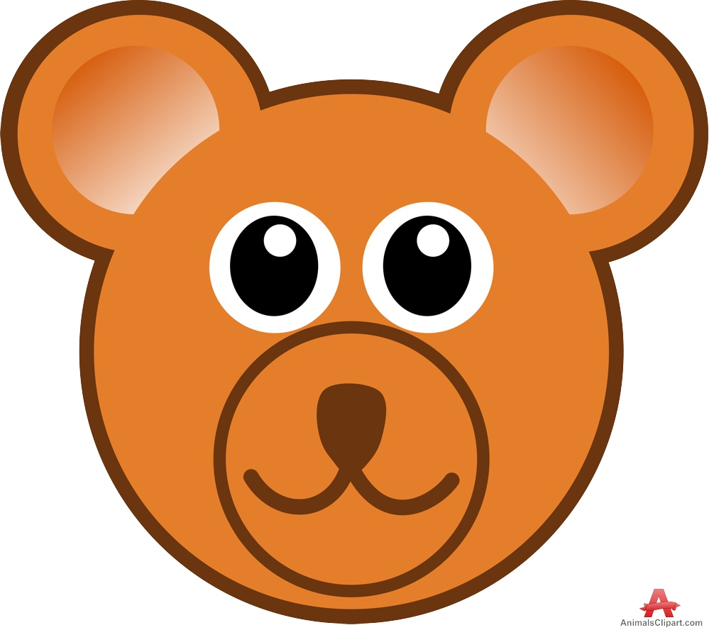 Face of Bear Clipart