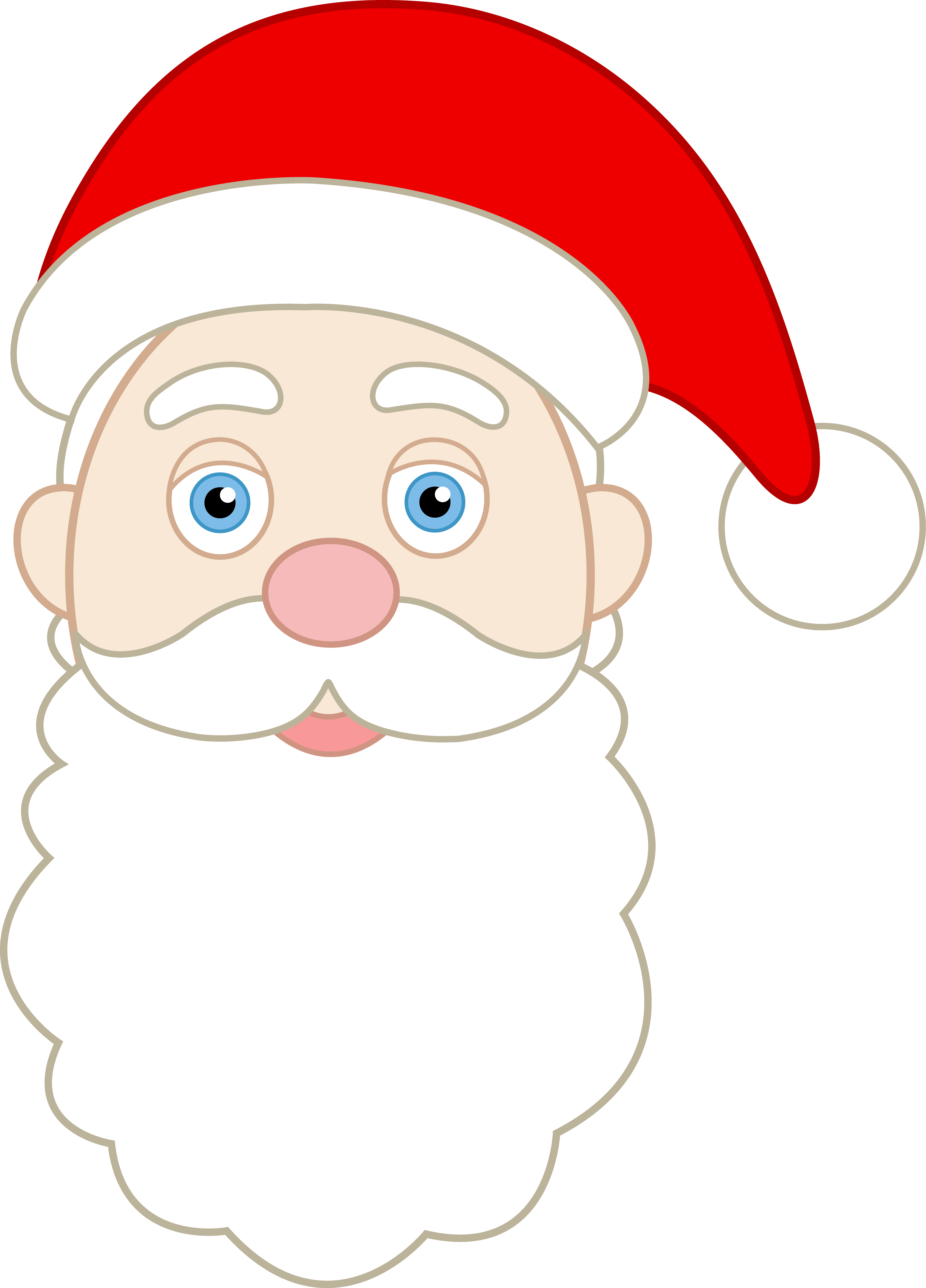 Face of Santa Claus - Free Clip Art-Face of Santa Claus - Free Clip Art-14