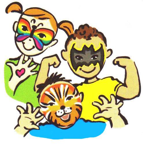 Face Painting Clip Art Free to Use