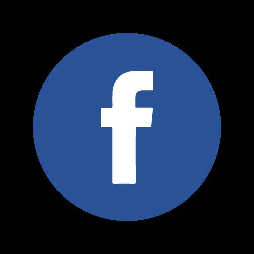 Facebook icon circle vector