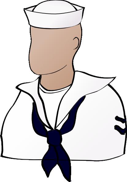 Faceless Sailor Clip Art