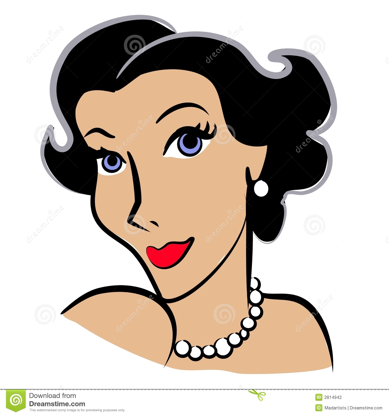 Faces Of Women Clip Art 2 Royalty Free Stock Photography - Image .