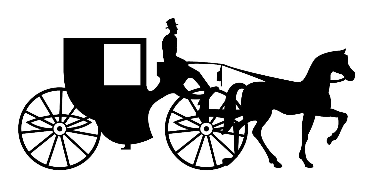 Facing Horse Carriage By .