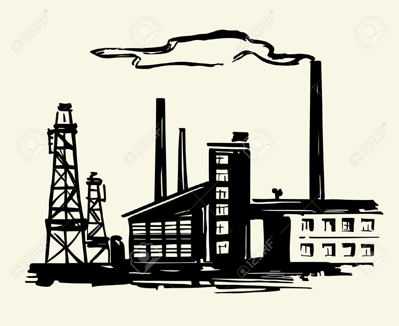 Factories Clip Art