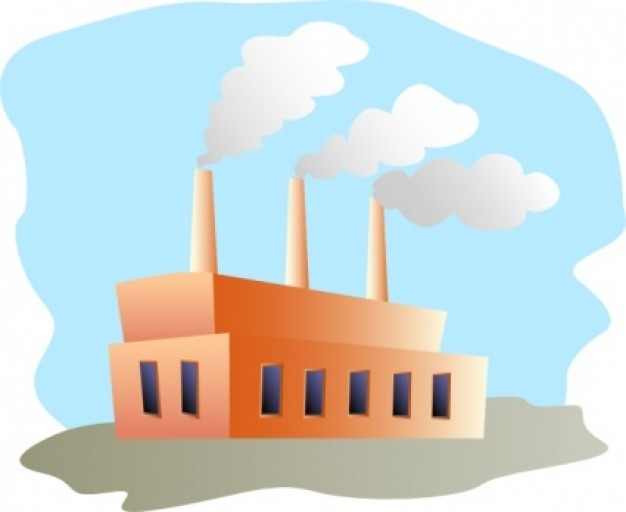 Factory Clip Art Vector   Free .-Factory clip art Vector   Free .-11