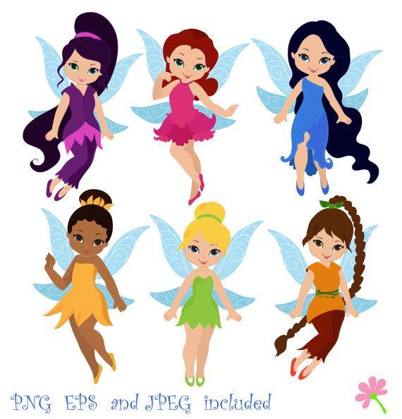 Fairies Digital ClipArt / Fairy Digital Clip art / Cute Fairies For Personal and commercial use