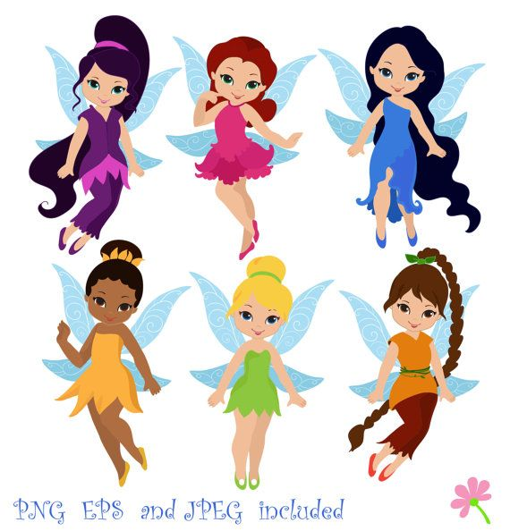Fairies Digital ClipArt / Fairy Digital -Fairies Digital ClipArt / Fairy Digital Clip art / Cute Fairies For Personal and commercial use-3