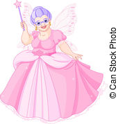 Fairy Godmother - Smiling Fairy Godmothe-Fairy Godmother - Smiling Fairy Godmother holding magic wand.-9