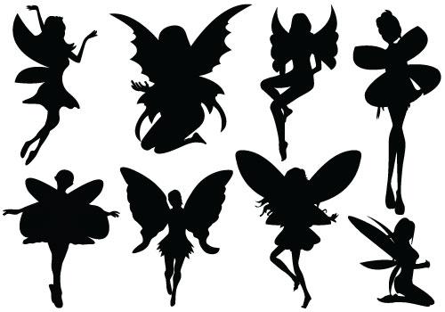 Fairy Silhouette .-Fairy Silhouette .-10
