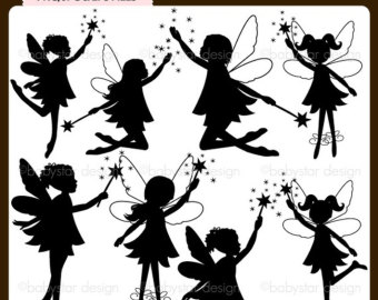 photo about Free Printable Fairy Silhouette titled 79+ Fairy Silhouette Clip Artwork ClipartLook
