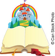 Fairy tale book theme image 1 - vector i-Fairy tale book theme image 1 - vector illustration.-11