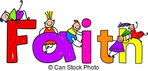 ... Faith - Happy Little Kids Climbing O-... faith - Happy little kids climbing over the word FAITH.-3