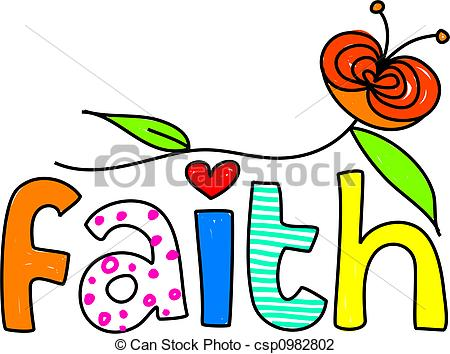 Faith - Whimsical Drawing Of The Word FA-faith - whimsical drawing of the word FAITH isolated on... faith Clip Artby ...-2