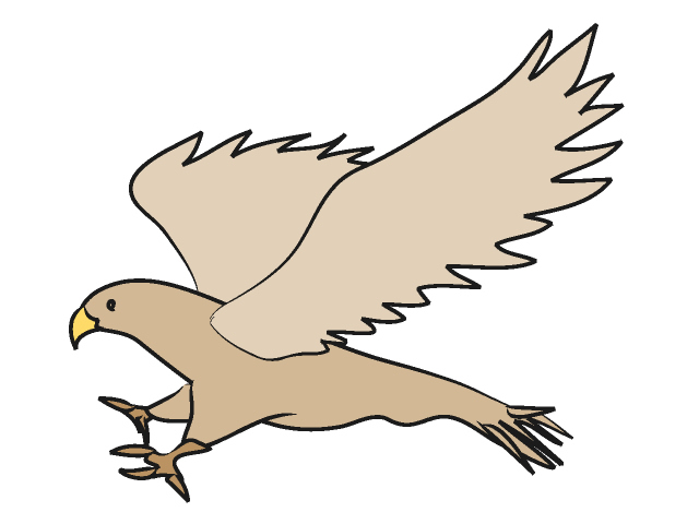 Cute Falcon Clipart #1