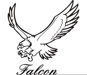 Peregrine Falcon Clipart Image-Peregrine Falcon Clipart Image-2