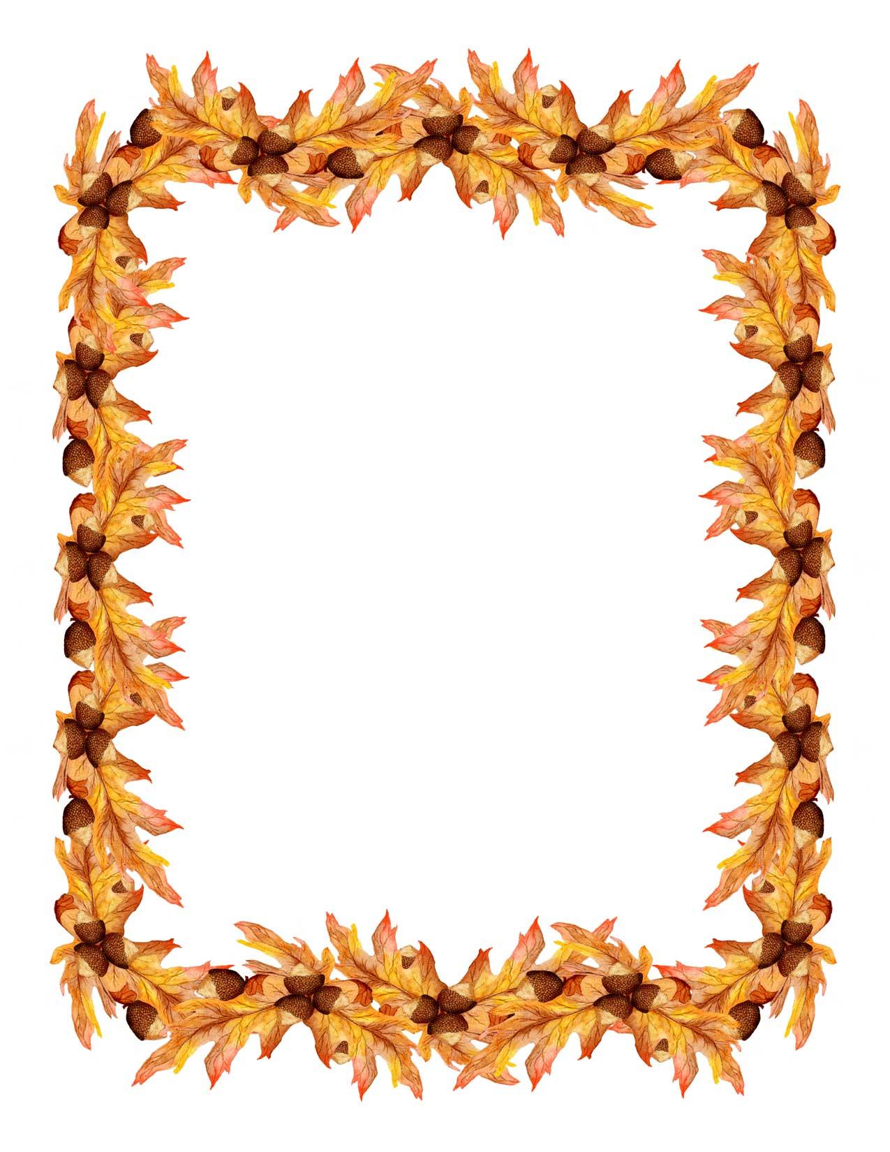fall border clipart - Free Fall Clip Art Borders