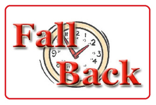 Fall Back Daylight Saving Time Ends Clipart