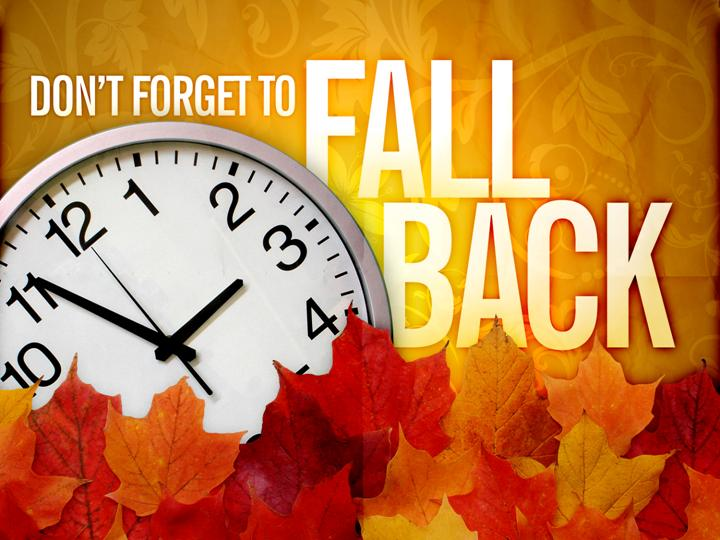 Fall Back Time Change Clip Art | Its that time of year again.