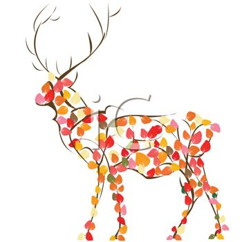 Fall Birthday Clipart Deer .