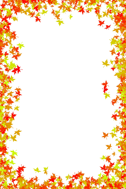 Fall border clip art free .