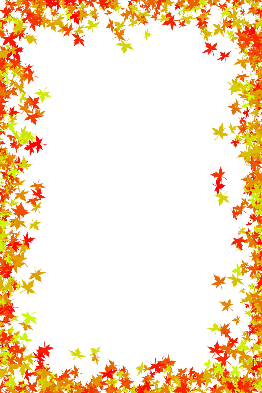 Fall border fall leaves clip .