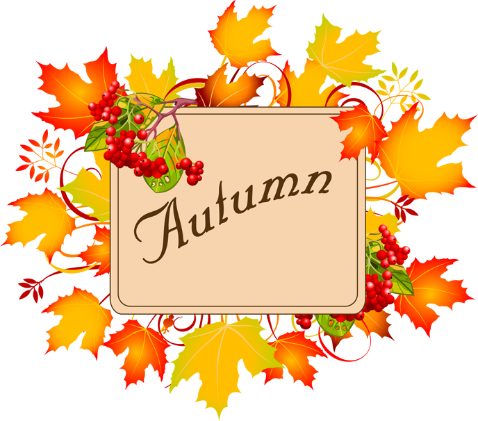 Autumn fall leaves clipart fr