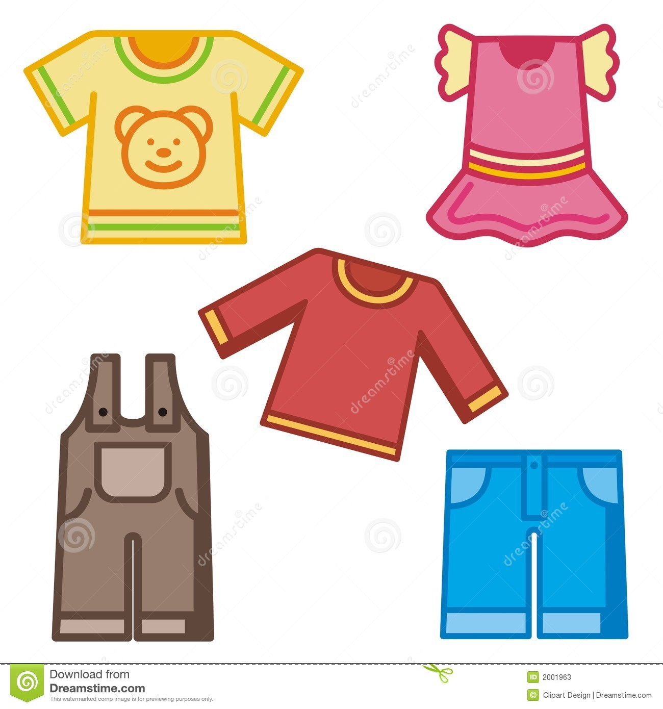 Fall Clothes Clip Art And Kids Clothing Icons