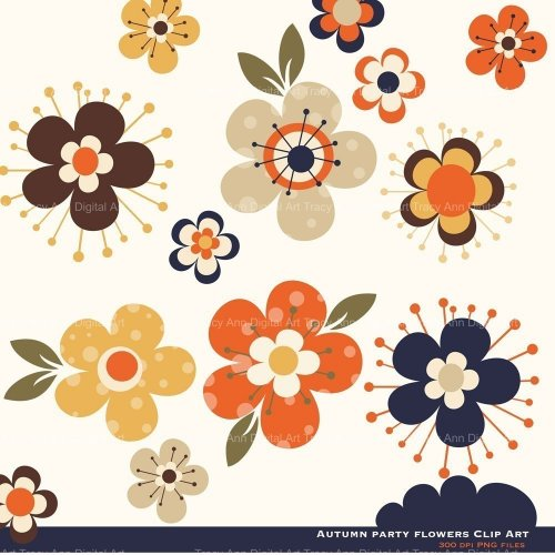 Fall Flower Change Clip Art Tracyanndigitalart Graphics On