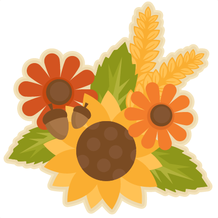 Fall Flower Group SVG .