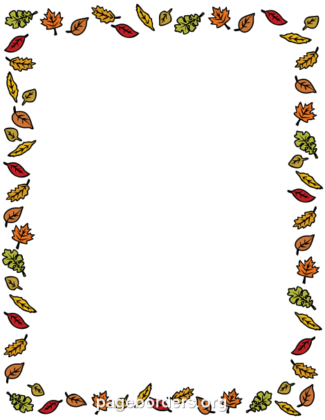 Fall Leaves Border-Fall Leaves Border-13