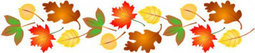 Fall leaves border graphic