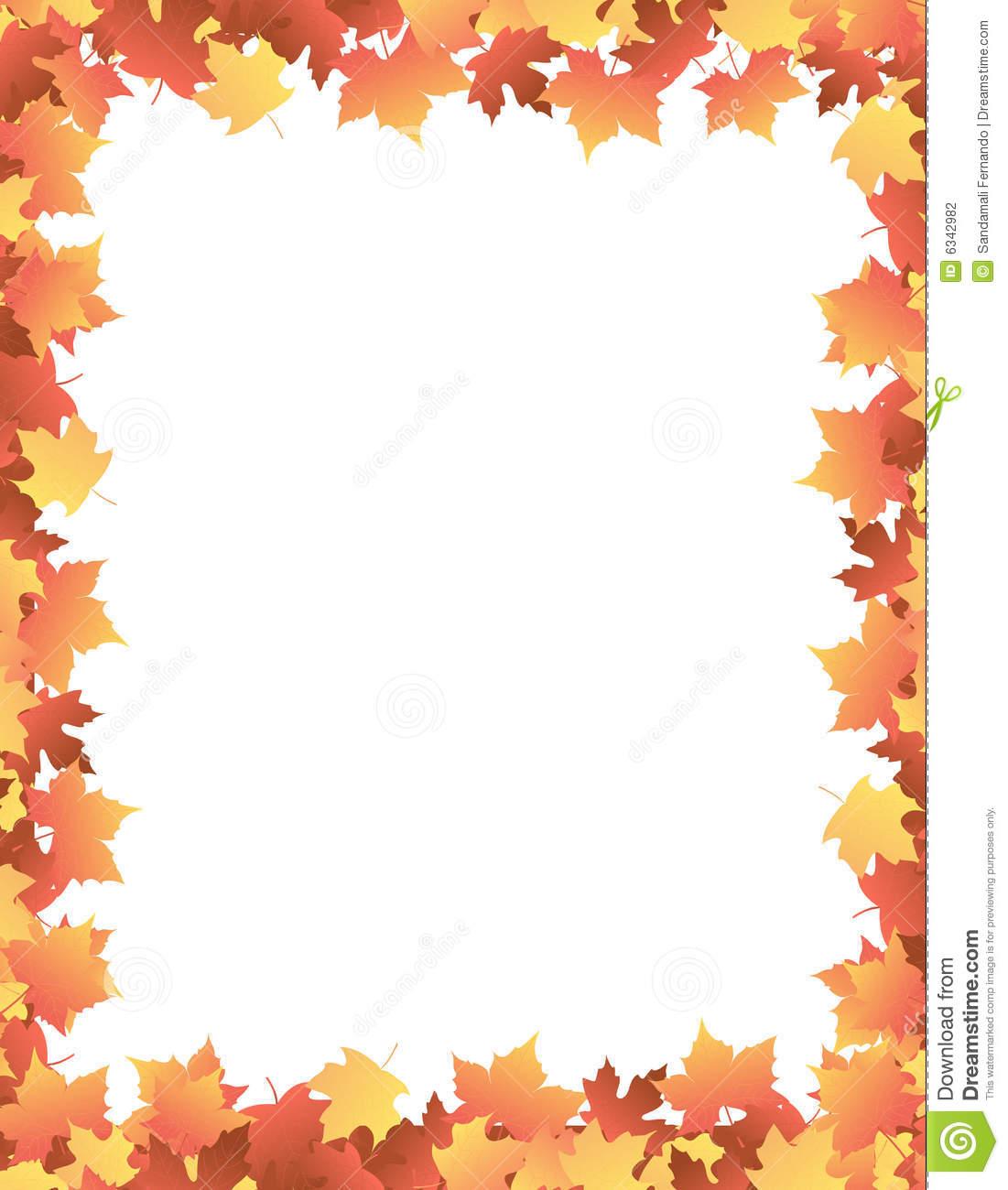 Fall Leaves Clip Art Border Recipe 101