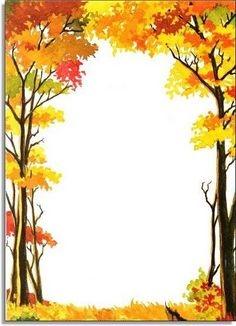 Fall Tree Border Clip Art Free