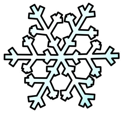 falling snowflake clipart