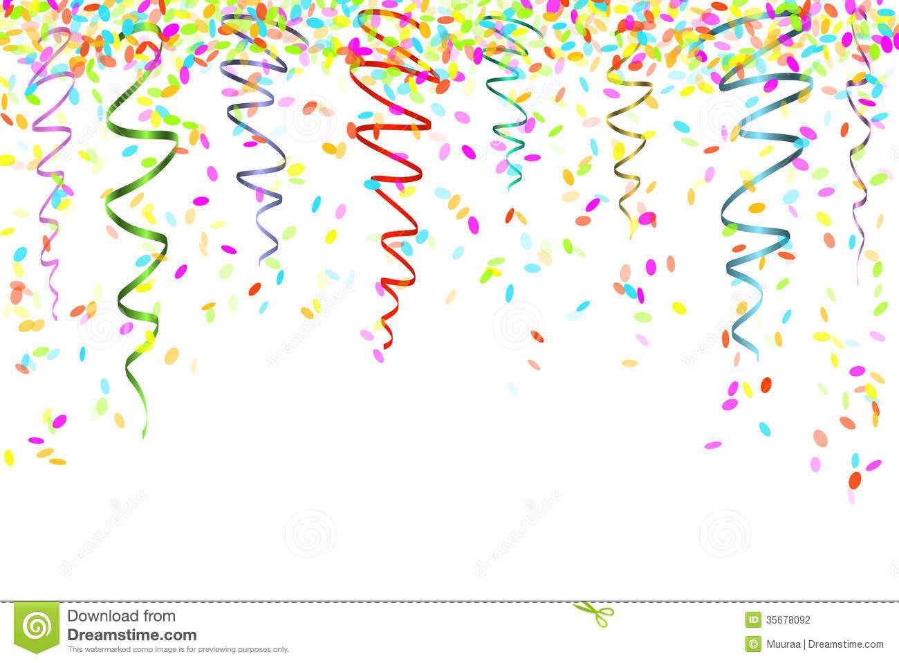 Falling Confetti Clipart