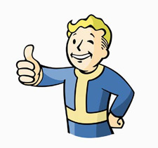 FALLOUT VAULT BOY DIE-CUT TIN