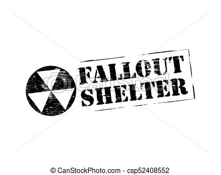 Fallout Shelter Rubber Stamp  - Fallout Clipart