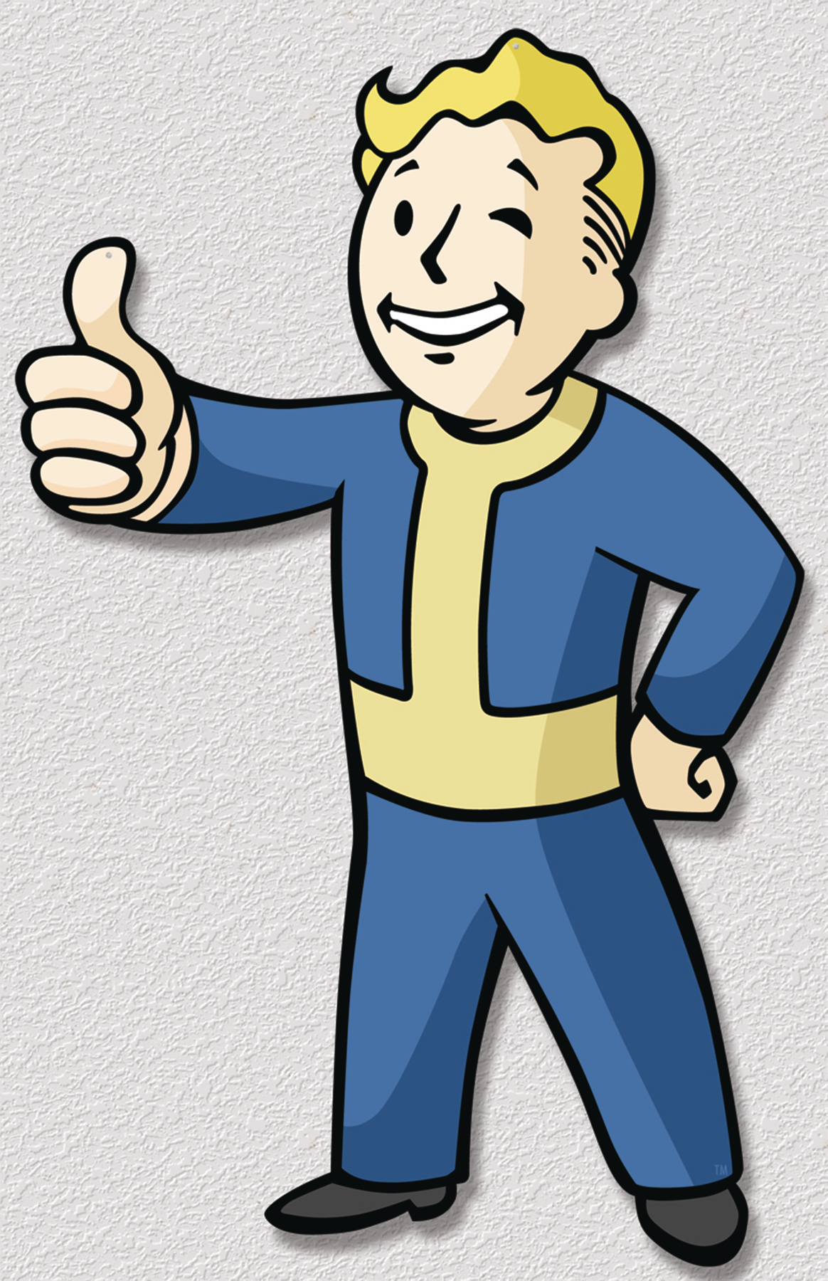 FALLOUT VAULT BOY DIE-CUT TIN - Fallout Clipart