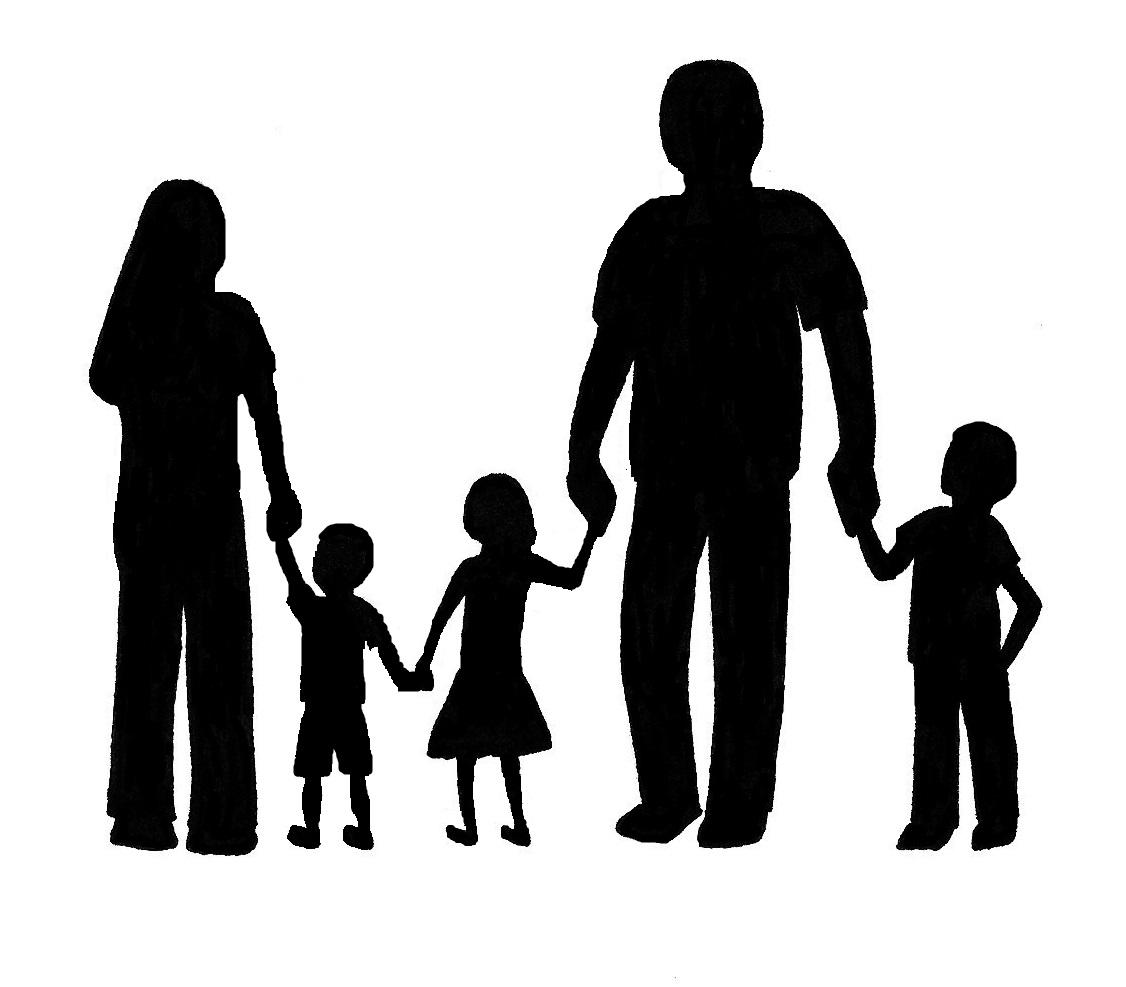 family silhouette clip art