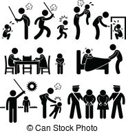 ... Family Abuse Children Pictogram - A -... Family Abuse Children Pictogram - A set of pictograms.-8