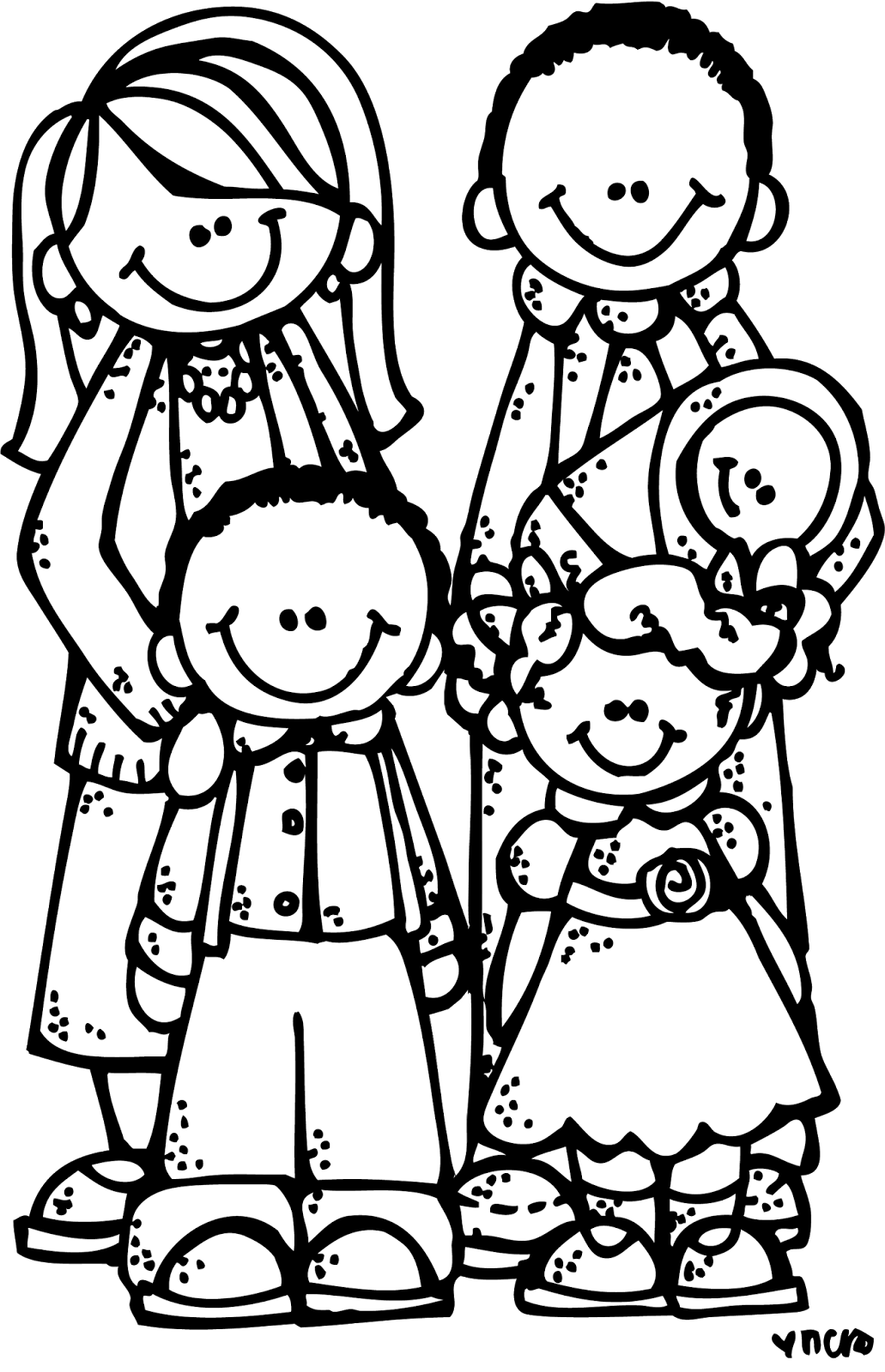 Family black and white family clipart black and white clipartall