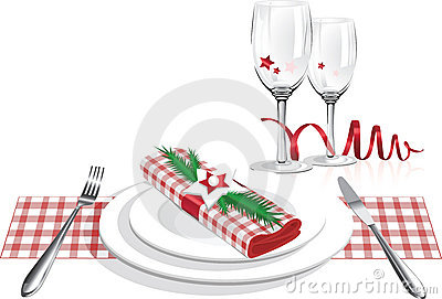 Family Christmas Dinner Clip Art Best Christmas Dinner Plates