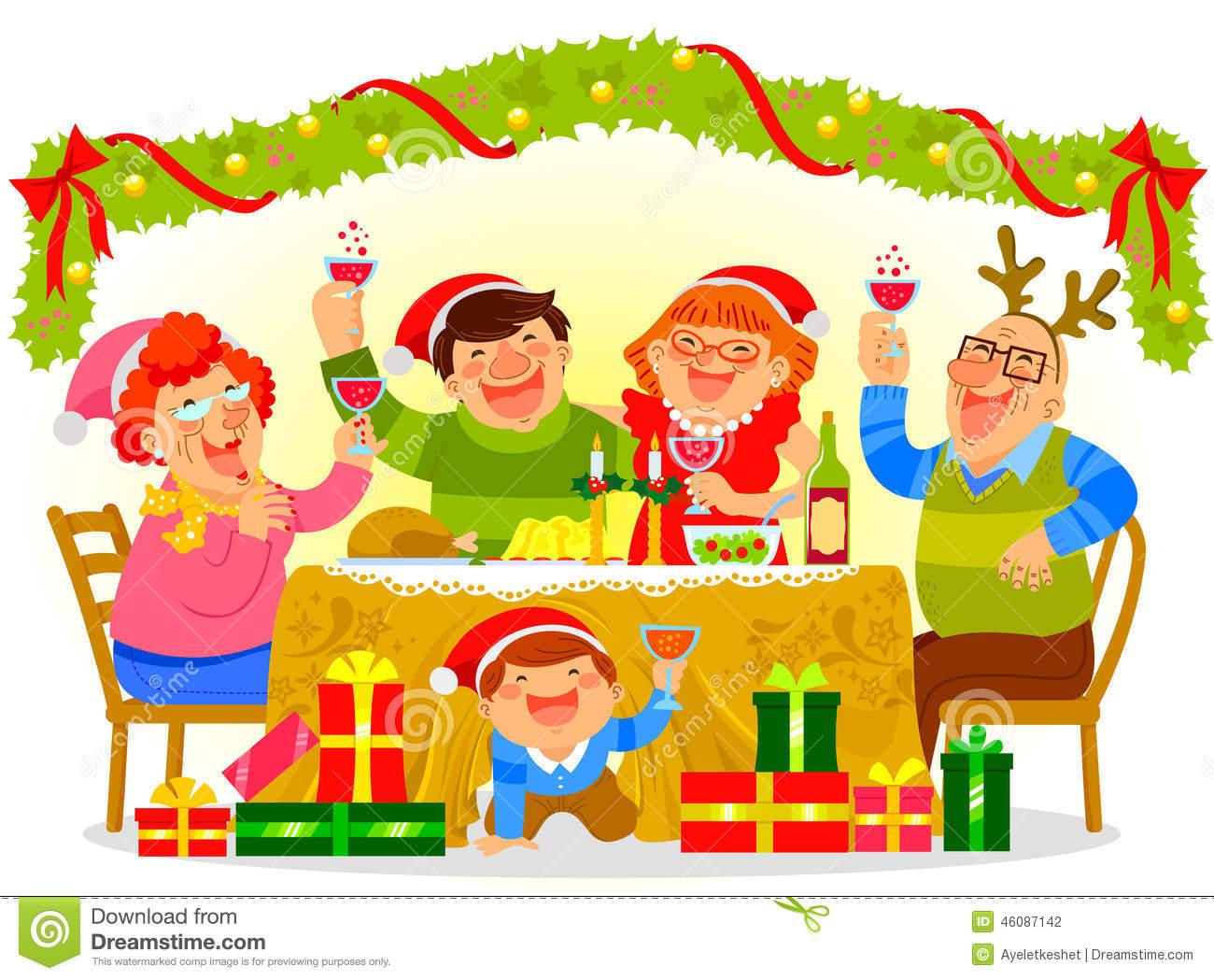 Family Christmas Dinner Clipart Family C-Family Christmas Dinner Clipart Family Christmas Dinner-16